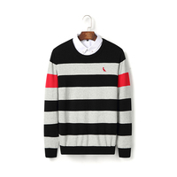 RESERVA ARAMY New Autumn Winter Men's casual striped sweater Knitted Sweater O neck Mens Sweaters Pullovers reserved