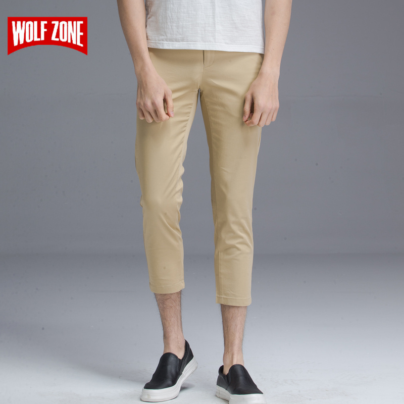 2018 New Casual Men Pants High Quality Brand Summer Classic Straight Stretch Calf-lenght Pant for Mens Clothing Size 29-38