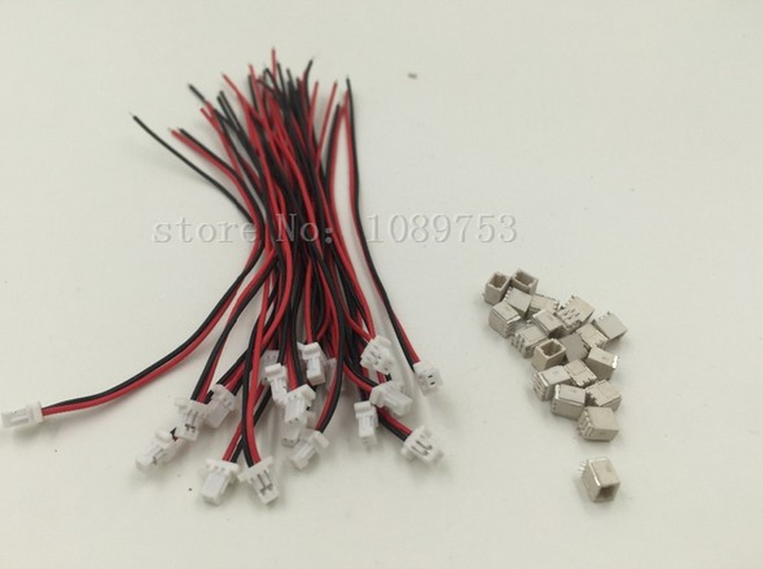 10 SETS Mini Micro SH 1.0 2-Pin JST Connector with Wires Cables 100MM