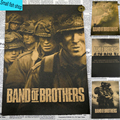 Band of Brothers Steven Allan Spielberg World War II Home Furnishing decoration Kraft Movie Poster Drawing core Wall stickers