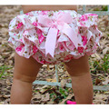 Бесплатная доставка 0-3 Лет Baby Дети Девушки Атласная Ruffle PP Брюки Дети Leopard Бантом Юбка детские Шорты