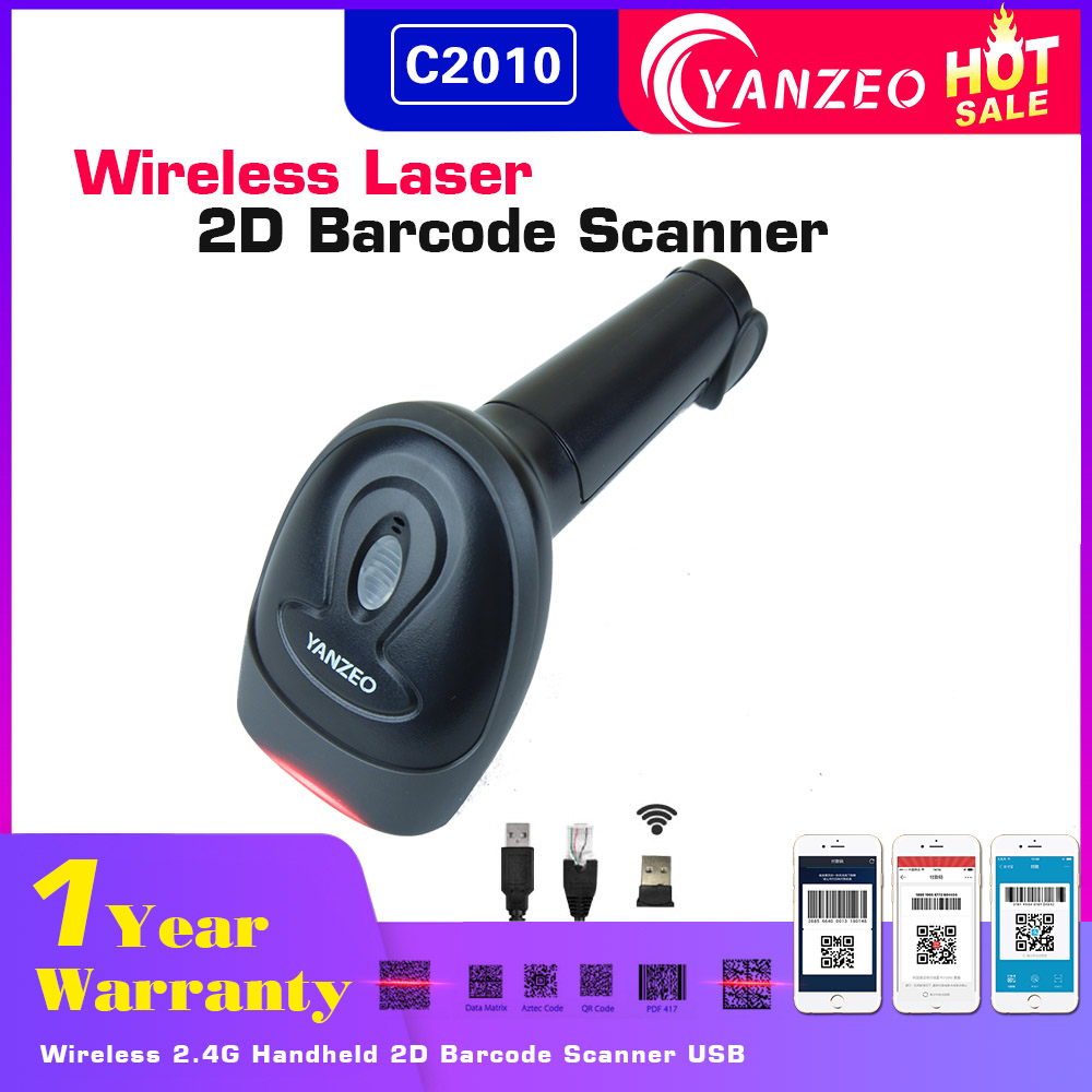 US $21 99 |Aliexpress com : Buy Yanzeo L1010 C2010 Wireless Portable  Bluetooth PDF417 1D/QR Code Barcode Scanner For POS System Warranty 12  Months