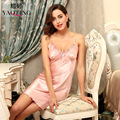 sexy halter sleeveless nightdress silk robe woman sleepshirts satin nightgowns femme print sleepwear female summer night dress