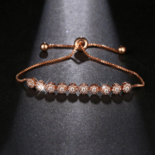 NEW fashion Style Shining Beauty AAA+ Cubic Zirconia Gold Color Chain Link Bracelet For Women Party Idea Gift Bracelets B-075 new bracelet for women gold plated color aaa cubic zirconia charm bracelets