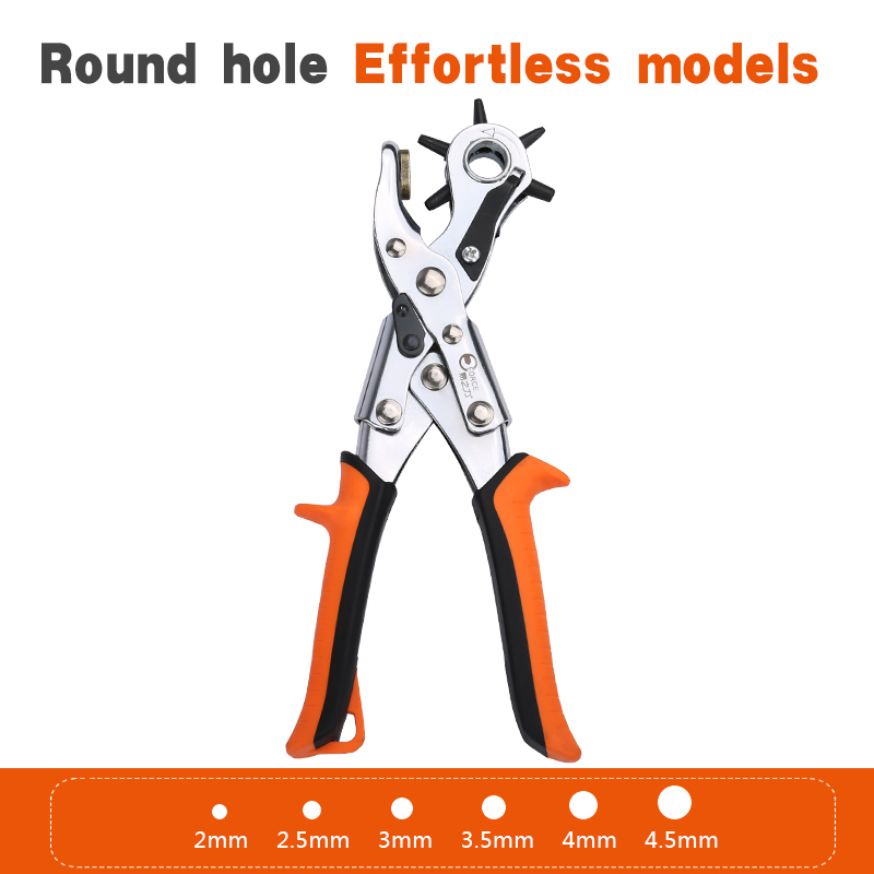 Heavy Duty Leather Belt Hole Punch Plier Eyelet Puncher Revolve Sewing Machine Bag Setter Tool Watchband Household Strap leather in Pliers from Tools