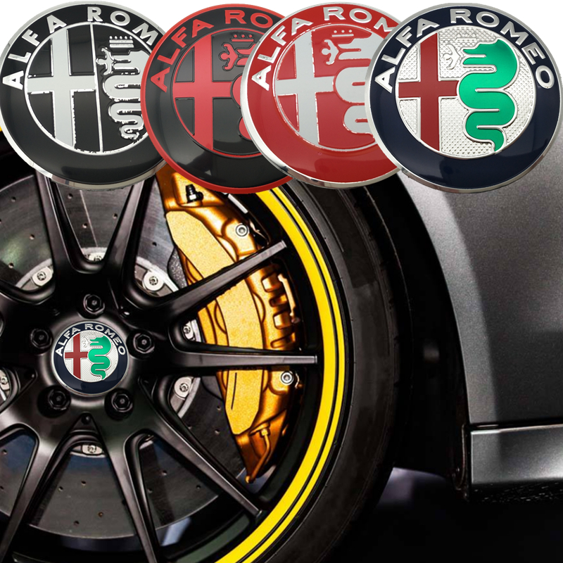 56mm FOR ALFA ROMEO logo car emblem Center Hub sticker Rim badge Decals Aluminum sticker For MITO 147 156 166 GT Car styling alfa romeo 166 2 4 в ростове