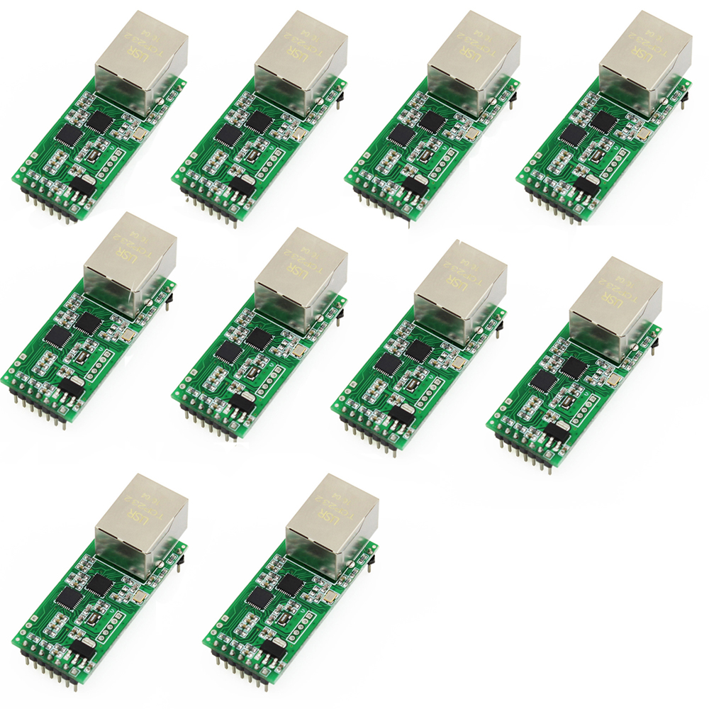 Q18042-10 10PCS USR-TCP232-T2 Tiny Serial Ethernet Converter Module Serial UART TTL to Ethernet TCPIP Module цена