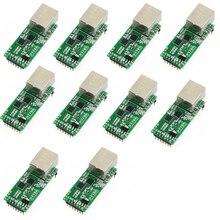 Q18042 10 10PCS USR TCP232 T2 Tiny Serial Ethernet Converter Module Serial UART TTL to Ethernet TCPIP Module
