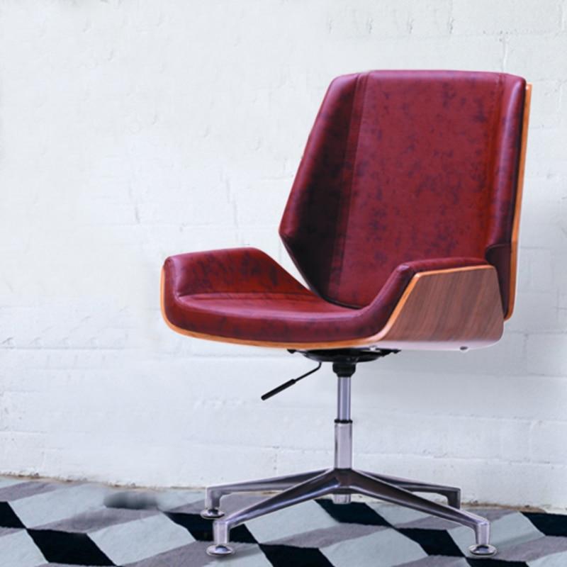 цена на Dark Brown Modern Creative PU Leather Leisure Chair with Swivel Function Gas Lift Height Adjust