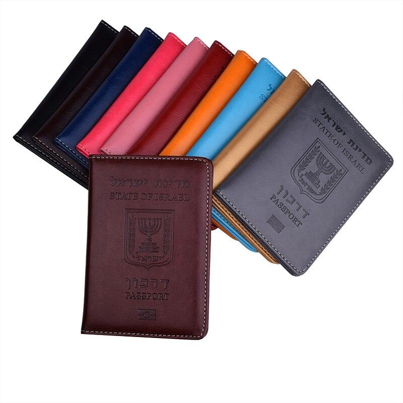 Pu Leather Israel Passport Holder Israeli Identification Cover Israelis Passport Case Travel Wallet for Israel Men Womens(China)