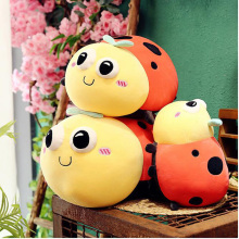 Simulation Cute Ladybug Insect Cartoon Seven-Star Doll Plush Toy Mollusk Sofa Pillow Child Birthday Gift