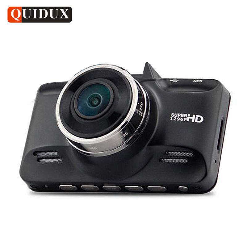 QUIDUX Ambarella A7 Car DVR 1296P HDR Full HD 1080P Video Camera Recorder GPS Logger Night Vision Dash Camera Dashcam G-Sensor g52d ambarella a7 car dvr camera hd video recorder blackbox with g sensor dash cam