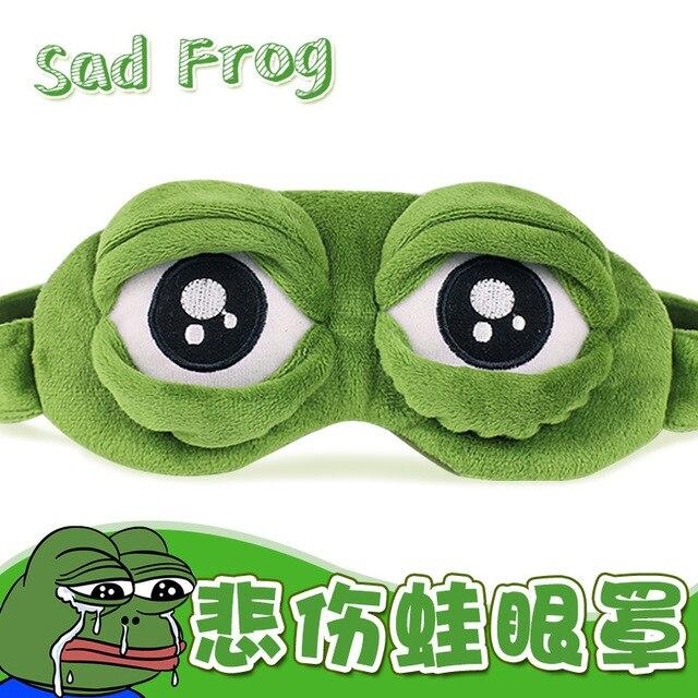 fdcc020cfb 2018 Funny Cool Pepe the Frog Sad Frog 3D Eye Mask Cover Plush Stuffed Toy  Cartoon Plush Sleeping Mask Cute Anime Kid Gift Toys