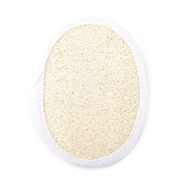 1pc Soft Exfoliating Loofah Natural Sponge Strap Handle Shower Massage Brush Skin body Bathing washing Accessories 1