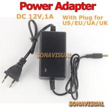 DC 12V 1A universal Power Adapter Charger for CCTV Camera, US, EU, UA, UK plug urveillance camera power supply top quality