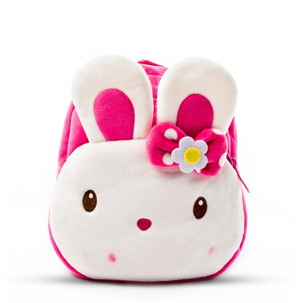Winmax Light Weight Plush Cartoon Kids 3D Backpacks Kindergarten Rabbit School Bags Girls Boys Baby Child Cute Mochila Infantil