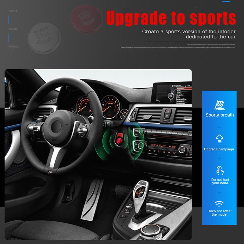 Car Multimedia Buttons Cover ABS Interior Decorations Scratch Resistant Car Styling Airspeed for <font><b>BMW</b></font> 5 Series <font><b>G30</b></font> 528i 530i <font><b>540i</b></font> image