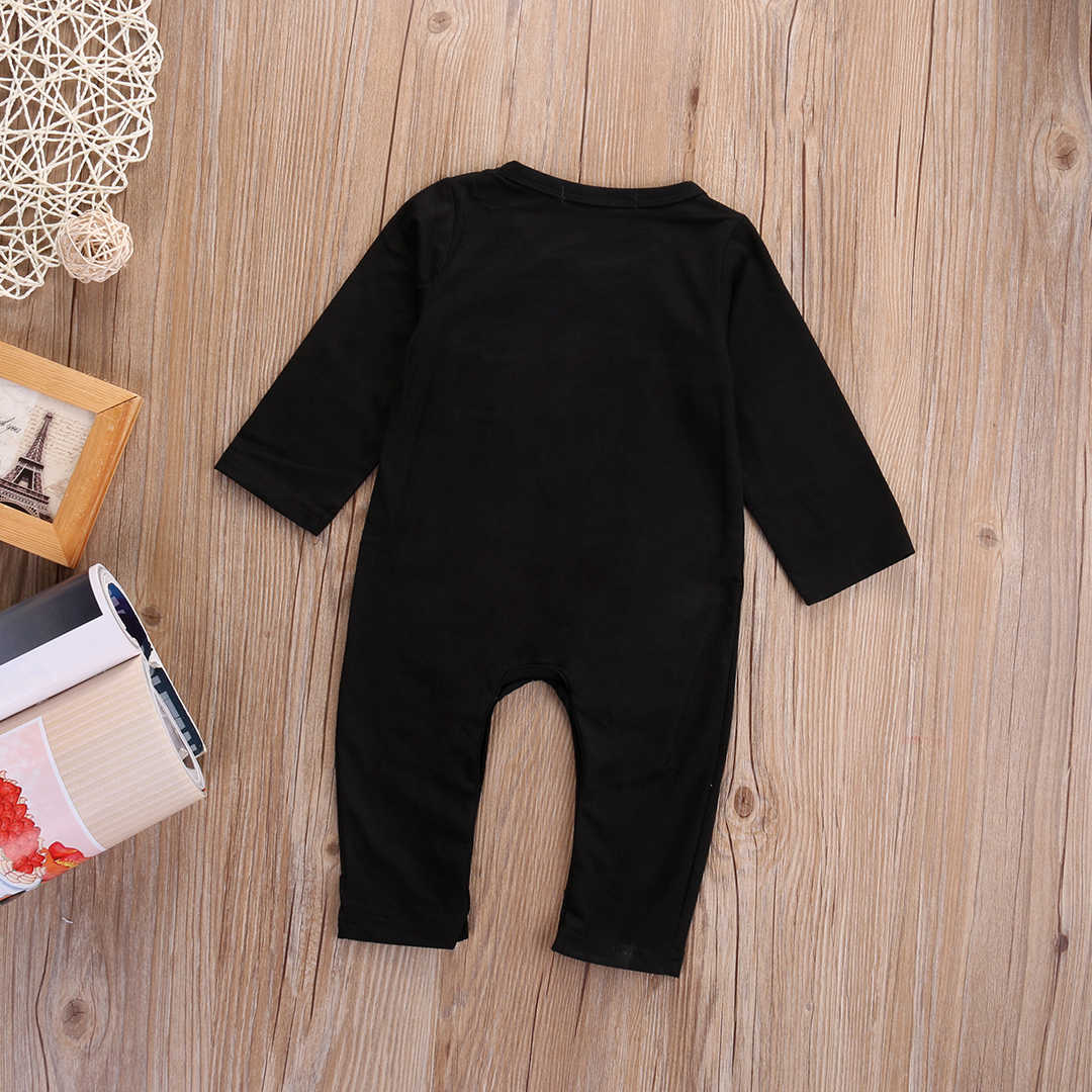 01b4c77da51c ... 2018 Halloween Newborn Baby Boy Girl Skeleton Rompers Long Sleeve  Jumpsuit Clothes Outfit Costume cosplay ...