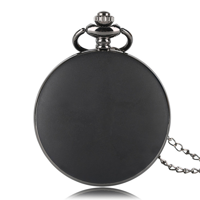 Antique Batman Necklace Quartz Pocket Watch Roman Number Display Full Hunter Fob Watch Chain for Boy Gift