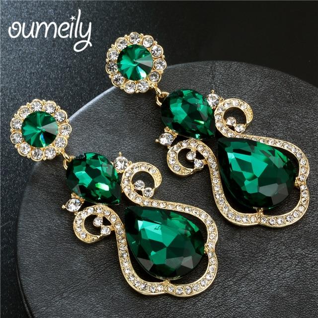 ... Drop Earrings For Women. Add Cart.  2.8. OUMEILY Big Boho Green Crystal  ... 70b3c1f095aa