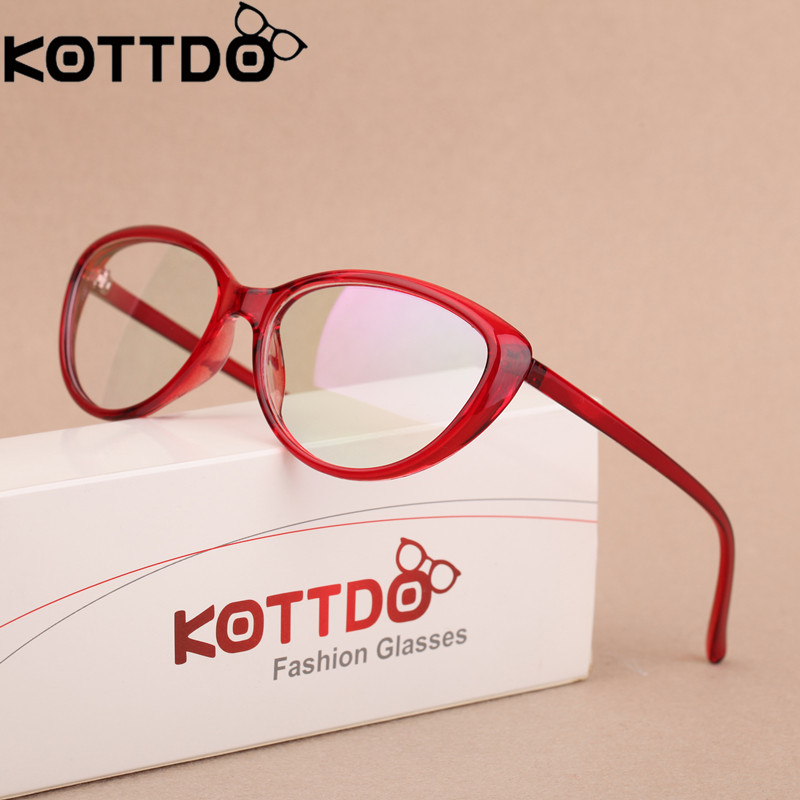 KOTTDO Mode Dames Cat Eye Brillen Frame Heren Optisch Glasse Frame Retro Brillen Computer Bril Transparante glazen