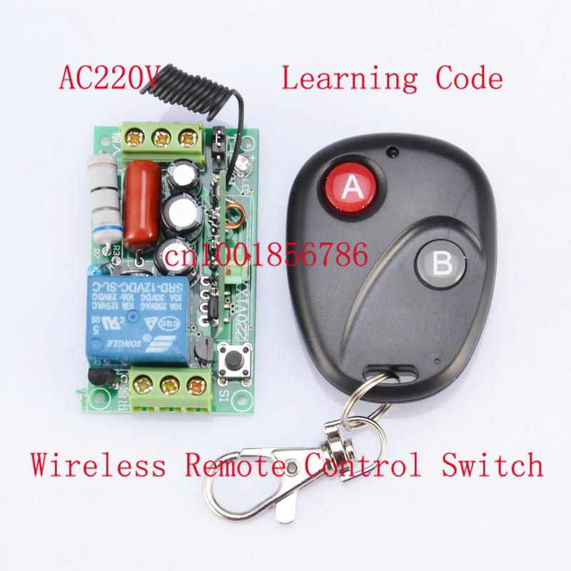 220V 1CH 10A RF Wireless Remote Switch Receiver&Transmitter For Light Lamp LED SMD ON OFF Momenrary Toggle Latched Adjustable