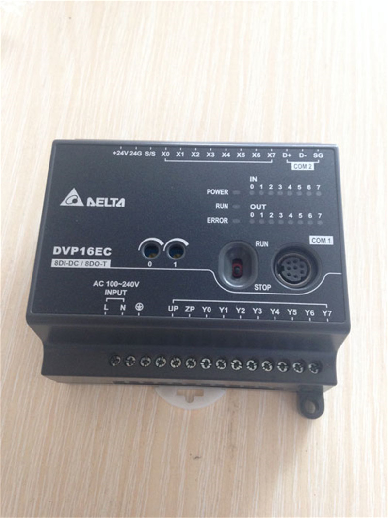 DVP16EC00T3 Delta EC3 Series Standard PLC DI 8 DO 8 Transistor 100-240VAC new in box dvp40ec00t3 delta plc ec3 series 100 240vac 24di 24do new original transistor output