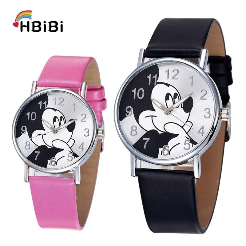 Montre Pour Enfants Children Watch Fashion Casual Girls Boys Students Clock Mickey Kids Watches Leather Quartz Wristwatches 2019