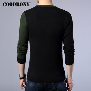 Image 4 - COODRONY 2018 New Autumn Winter Thick Warm Cashmere Sweater Men Casual O Neck Pull Homme Brand Pullovers Mens Wool Sweaters 7185