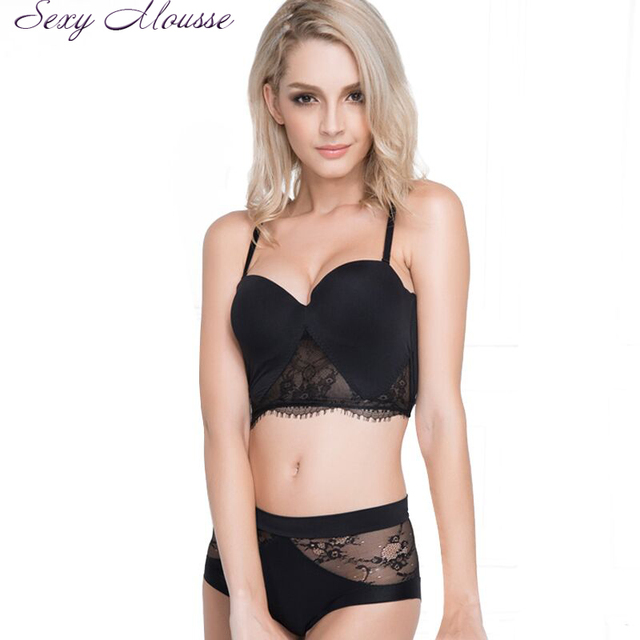 Sexy Mousse Womens Bra Brief Sets Seamless Push up Bra