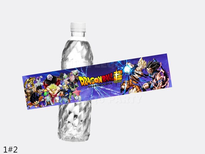 Dragon Ball Z Water Bottle Labels Goku Kids Birthday Party