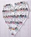 Esmalte de uñas, perfume de pared de hierro vitrina estante estante de exhibición de la tienda montaje en pared de maquillaje