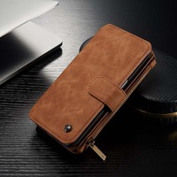 Caseme 14 Slots Leather Multifunction Cover For Iphone 5 5se 6 6S 6plus 7 7Plus For