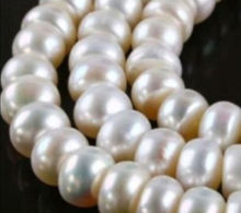 8*10MM White Freshwater Akoya Pearl Shell Pearls Loose Beads Women Jewelry Semi-finished Necklace Natural Stone Wholesale Price