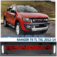CITYCARAUTO LED DRL Racing grill grille ABS black front trim fit for ford Ranger wildtrak T6 txl pickup raptor grillS 2012-2014