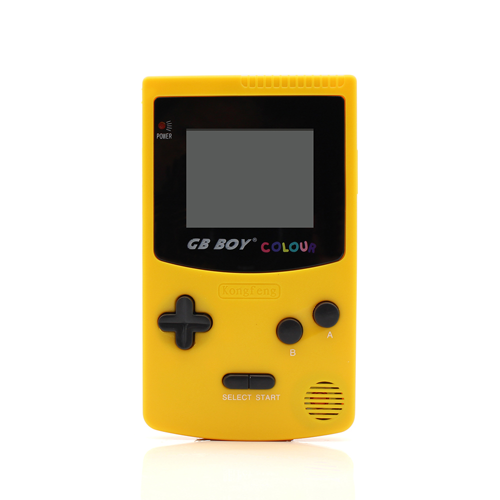 GB Boy Color Colour Handheld Game Consoles Game Player with Backlit 66 built in games Yellow