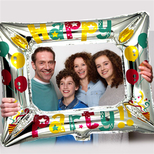 1PCS New Style Balloon Aluminum Foil Photo Frame Balloons Happy Birthday Family Party Artifact For Boys And Girls