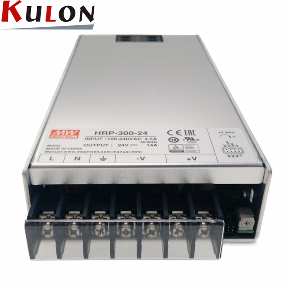 Original MEAN WELL HRP-300-24 single output 336W 14A 24V meanwell Power Supply HRP-300 with PFC function цены