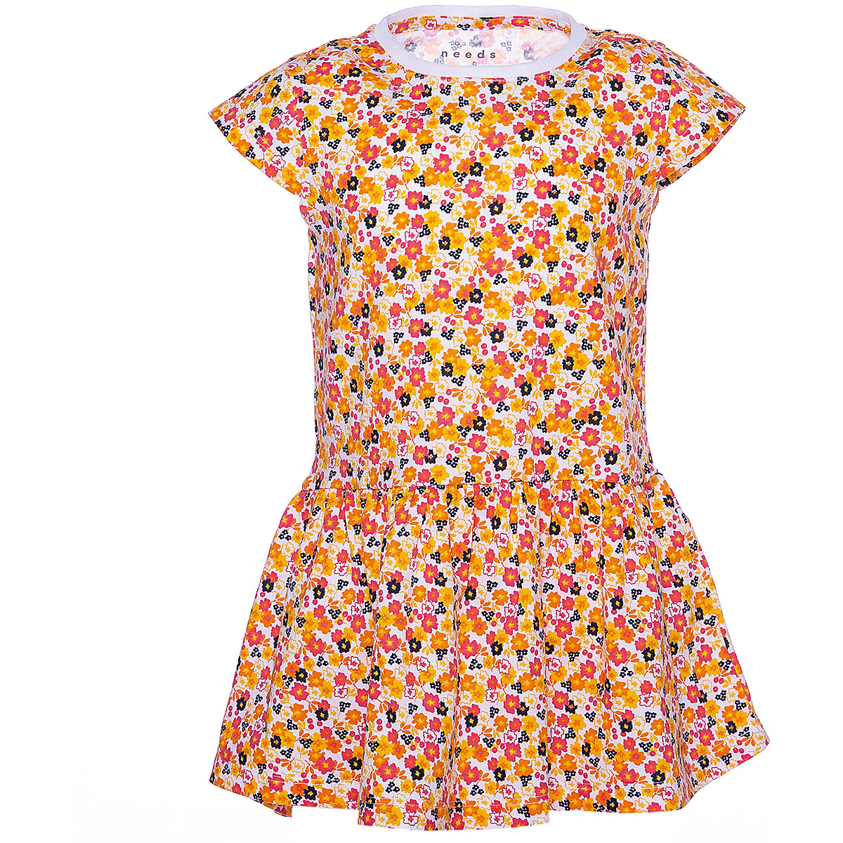 NAME IT Dresses 10626567 Dress girl children checkered pattern collar fitted silhouette sequins Cotton Casual Multi Short Sleeve