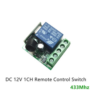 Image 2 - 433Mhz Universal Wireless Remote Control Switch DC 12V 10A 1CH relay Receiver Module and RF Transmitter 433 Mhz Remote Controls