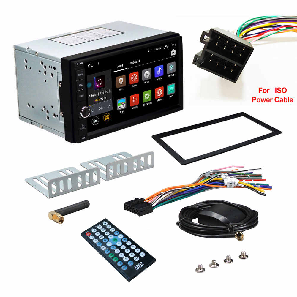 2Din 7 ''Octa core Universal Android 9,0 2GB RAM coche Radio Estéreo navegación GPS WiFi 1024*600 pantalla táctil DAB DVR RDS OBD2 SWC