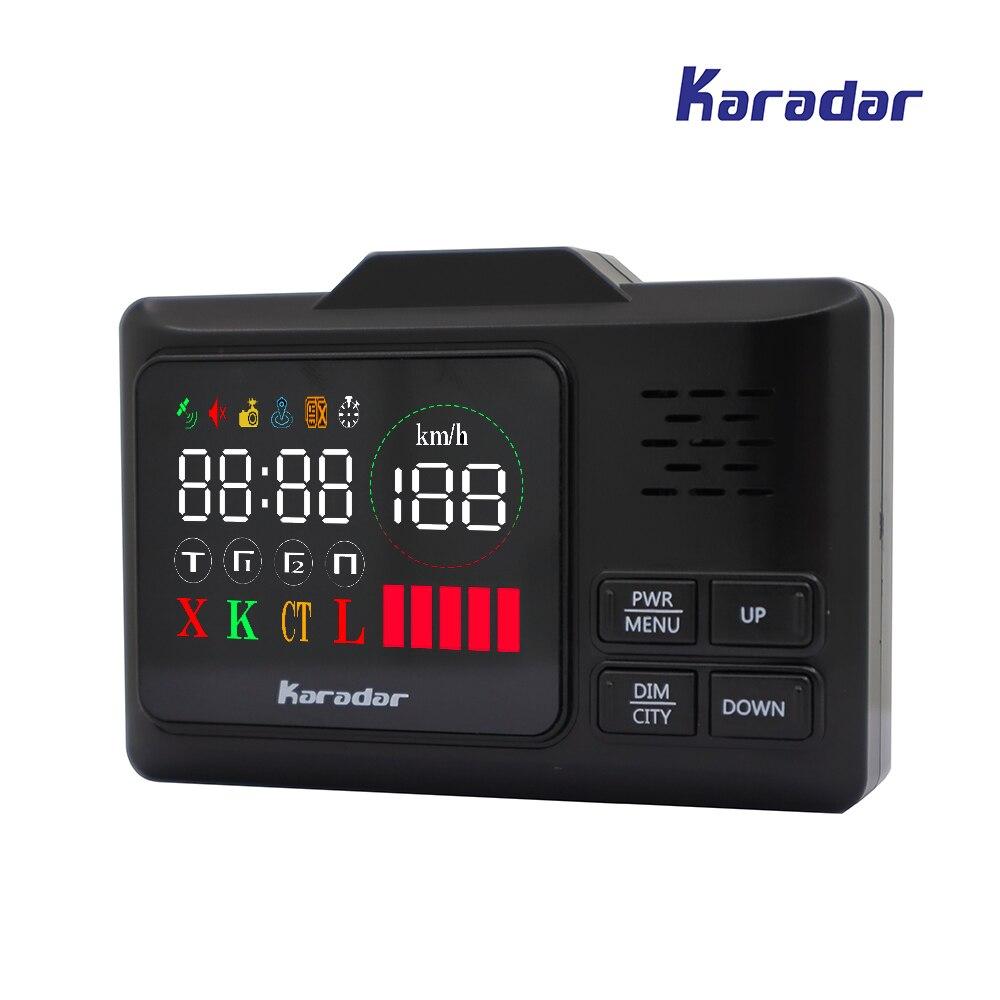 Detector de Radar KARADAR LED GPS G-860STR Anti Radar para coche Detector de Radar láser Detector de Radar Strelka Detector de coches voz rusa