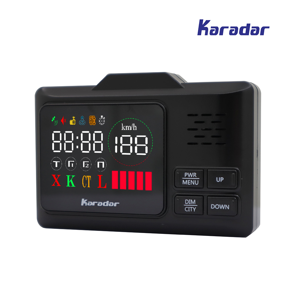 KARADAR LED GPS Radar Detector G-860STR Anti Radar Car Radar Detector Laser Radar Detector Strelka Car Detector Russian Voice 2017 new car radar detector str535 car anti radar detector with laser warning vehicle speed control detector free shipping