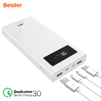 Besiter Power Bank 20000 MAh For Xiaomi Mi 2 Quick Charge 3 0 PowerBank Portable Charger