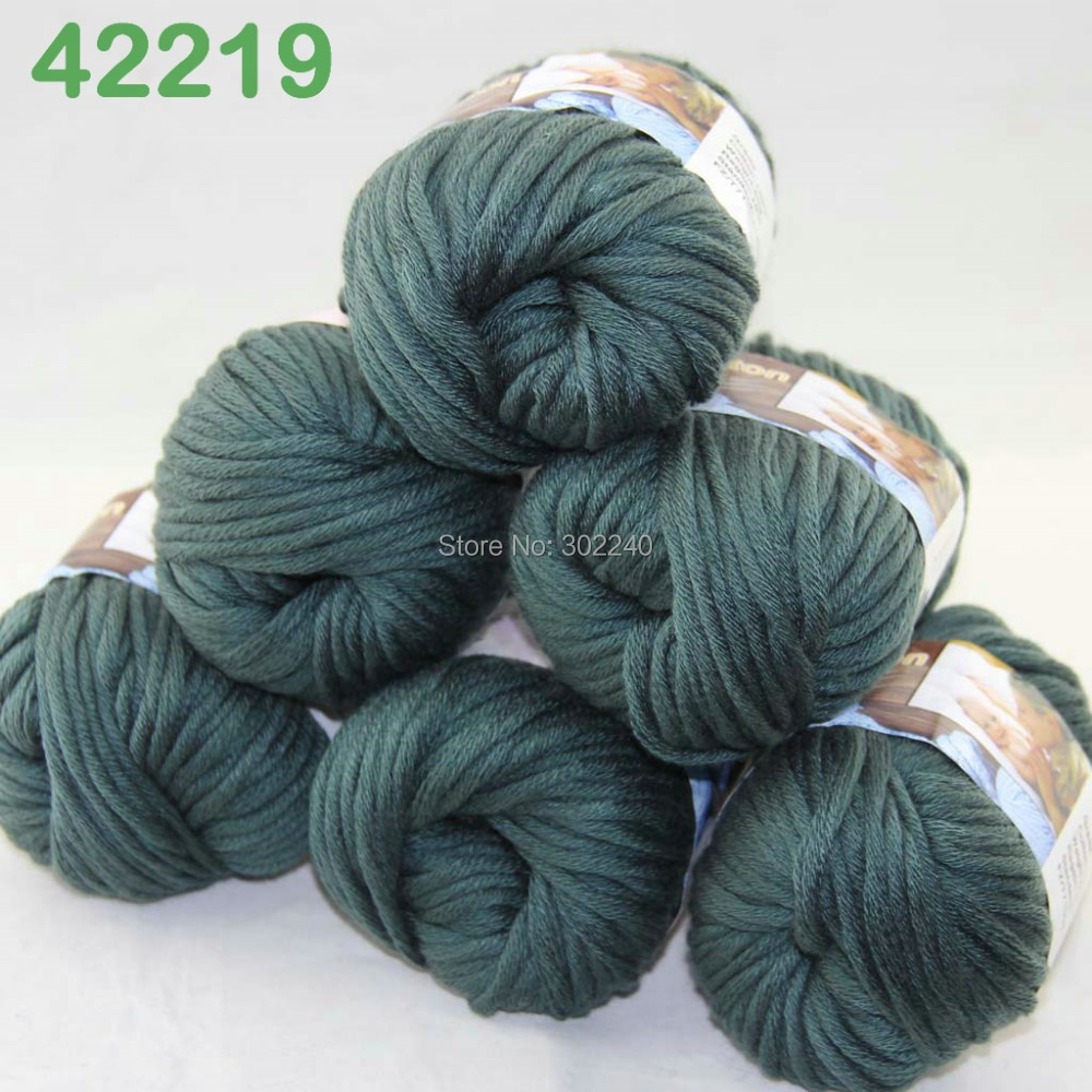 LOT of 6 Balls X 50g Special Thick Worsted Cotton Knitting Yarn Dark - Arts, Crafts and Sewing