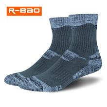 R-BAO, 2 пар/лот, зимние теплые лыжные носки для мужчин и женщин, спортивные носки для сноубординга, Термо носки для велоспорта, треккинга, пешего туризма