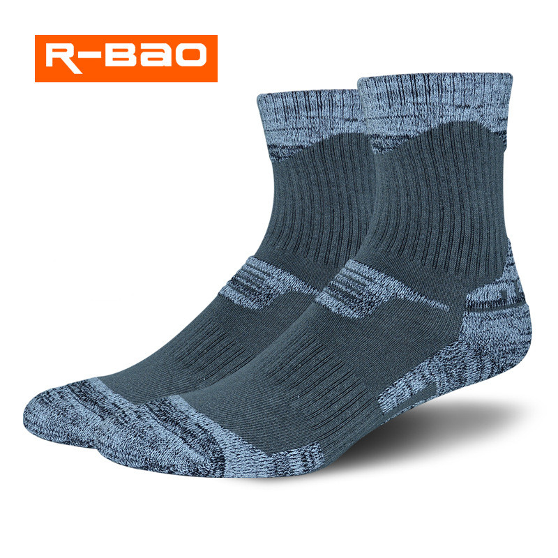 R-BAO 2 Pairs/Lot Winter Thermal Ski Socks Men Cotton Spandex Sport Snowboard Socks Wearable Thermosocks calcetines de ciclismo ...