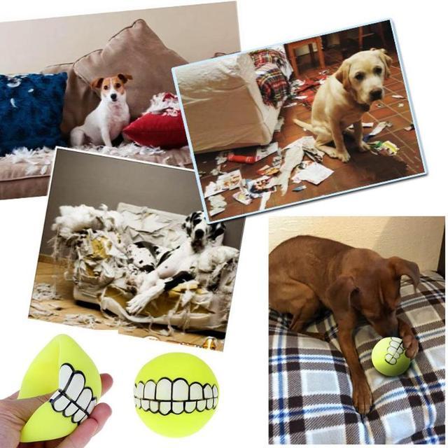 Funny Cute Animali Domestici Cane Cucciolo di Gatto Cani Sonori Chew Palla Giocattolo Denti Ispessimento PVC Giocare Recupero Squeak Giocattoli Da Compagnia Forniture