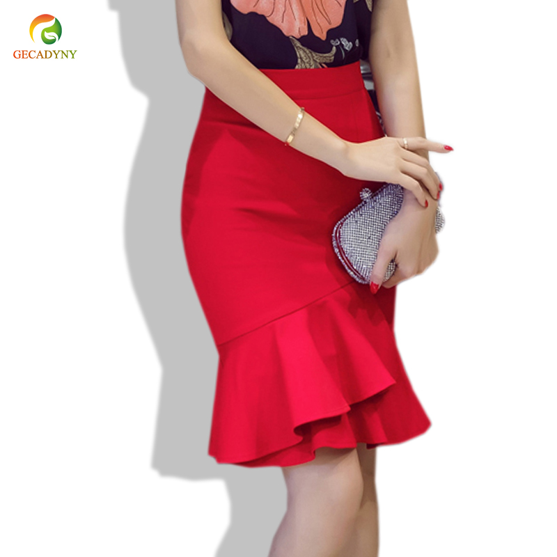 d282623420 Buy black and red ruffle skirt and get free shipping on AliExpress.com