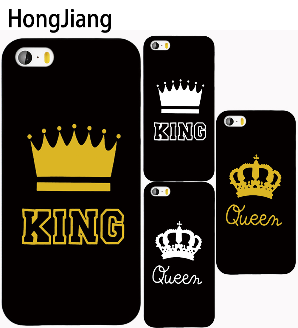 HongJiang King Queen YOUR MINE Cover case for iphone 4 4s 5 5s SE 5c 6 6s 7 8 X plus samsung S3 S4 S5 S6 S7 mini EDGE Note 3 4 5